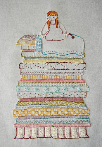 Princess and the Pea Embroidery